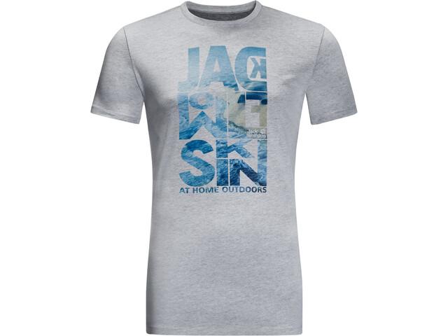 Jack Wolfskin Atlantic Ocean Tee Men slate grey